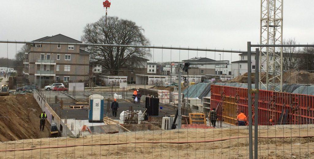 Die Baustelle im Erlenhof im Jahr 2019