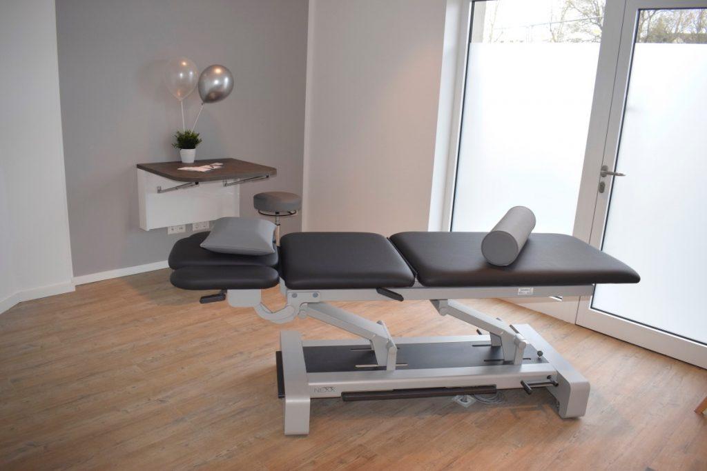 Physiometics, Ahrensburg, Behandlungsraum – Foto: Nicole Schmidt, Ahrensburg Blog